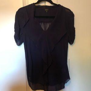 Talula Babaton Navy Silk Blouse XS